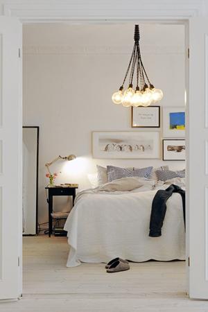 lampara bombillas dormitorio