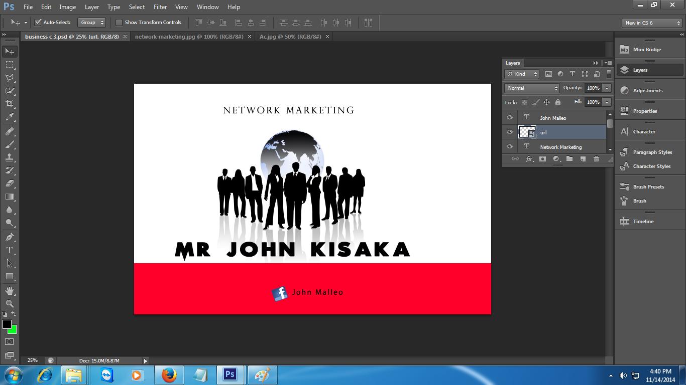 High classic Pro: NEW BUSINESS CARD JOHN MALLEO - NETWORK MARKETING