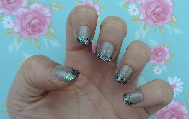 glittery tip nails