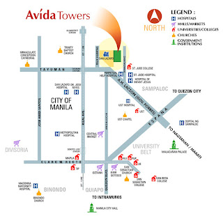 Avida Towers San Lazaro Location Map
