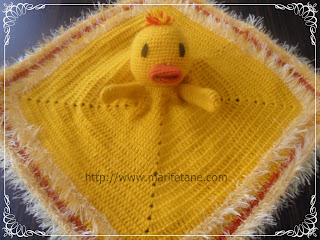 Yellow Ducky Blanket lovie