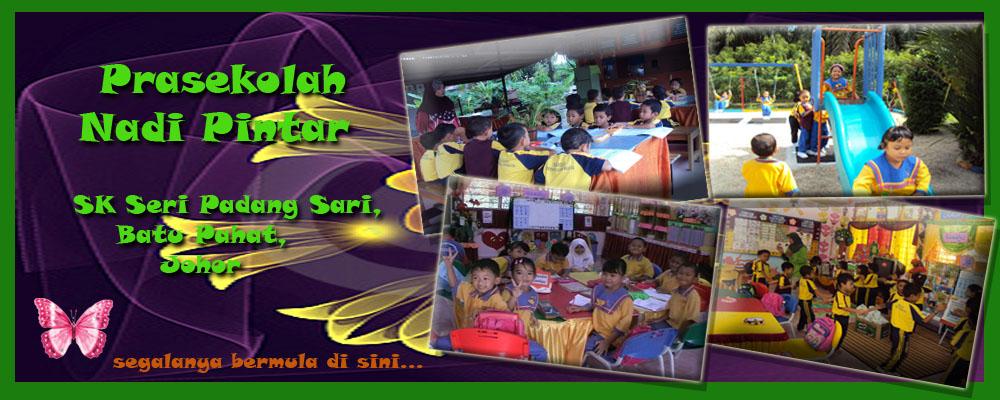 <br><center>Prasekolah Nadi Pintar<br>SK Seri Padang Sari, <br>Batu Pahat, Johor<br><br></center>