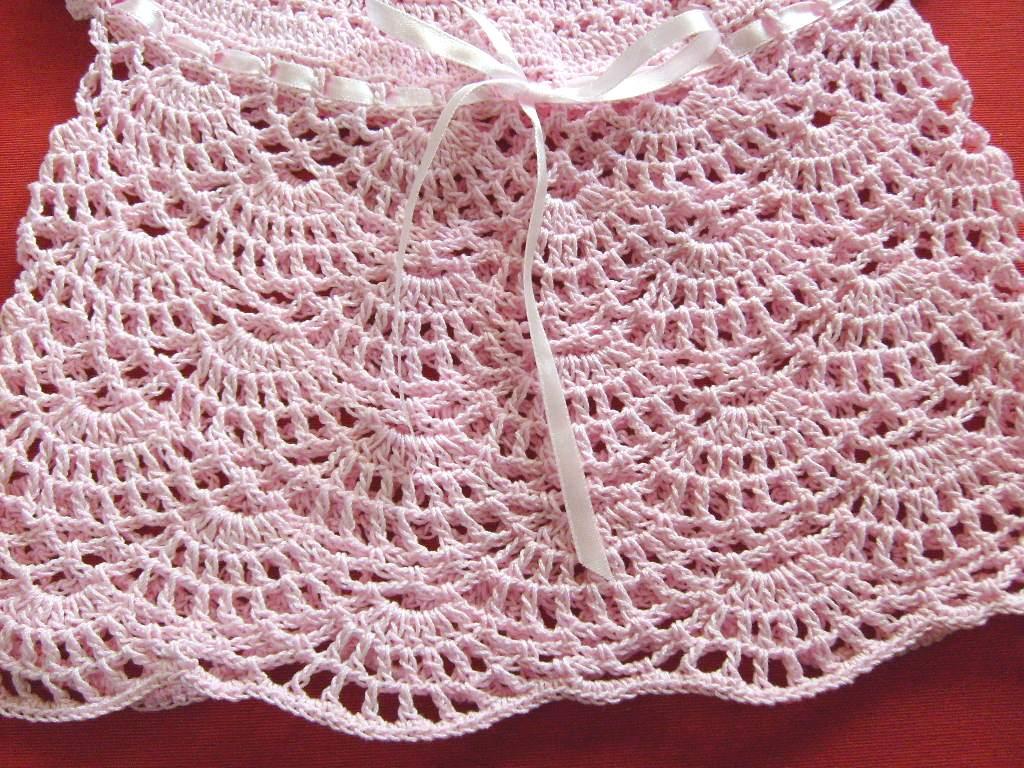 Vestido Tejido Crochet Para Bebe Meses Como Tejer Pictures