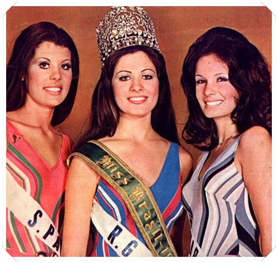 TOP TRES MISS UNIVERSO BRASIL 1972
