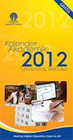 Kover Kalender Akademik 2012 Universitas Terbuka