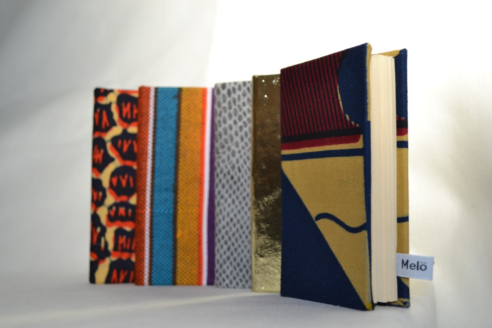 Meloleather African fabric small notebook made in London by Melo 2012