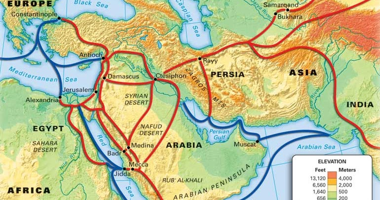 Mrs. Perkins' World History: Islamic Trade Routes
