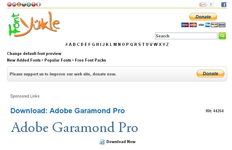 Adobe Garamond Semibold Font Free Download