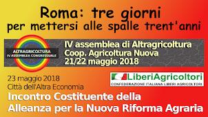 Altra Agricoltura 23 maggio:  la Costituente per la Nuova Riforma Agraria