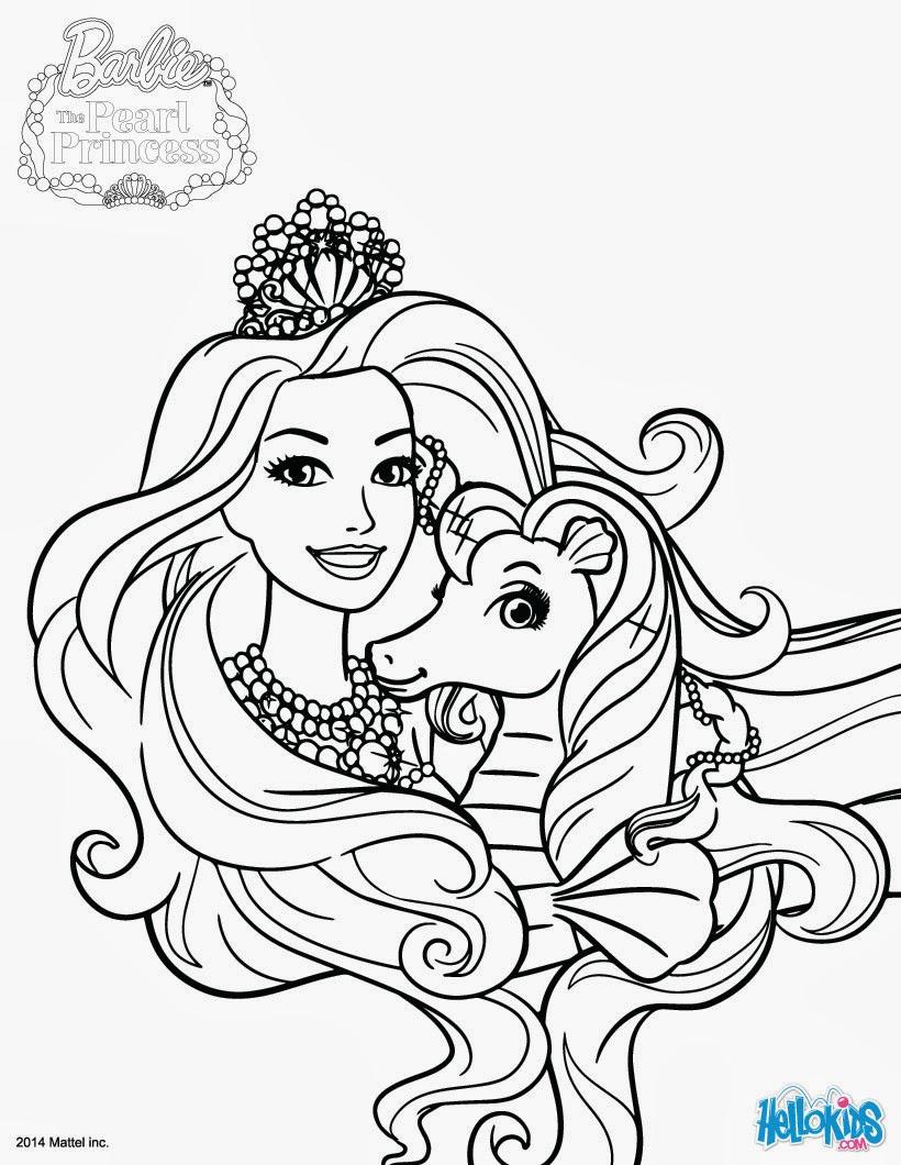 imagens para colorir barbie sereia - Barbie Jogos de Colorir e Pintar