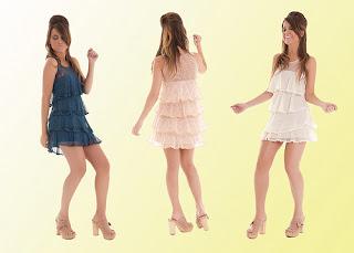 vestidos com babados da moda