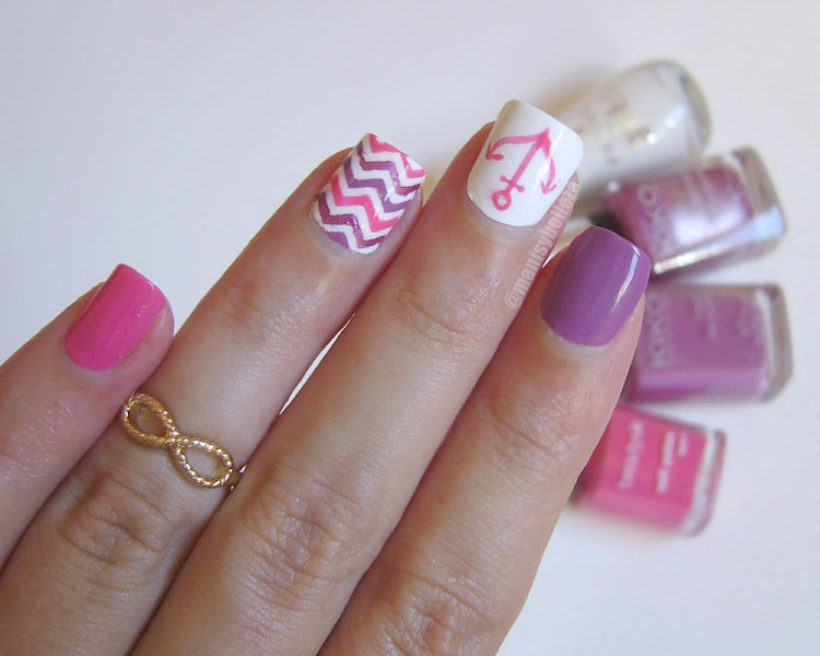 Summer nails Nautical nail art