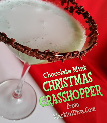 The MARTINI DIVA: CHRISTMAS GRASSHOPPER Chocolate Mint COCKTAIL RECIPE