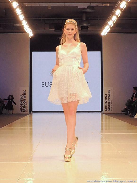 Susana Ortiz primavera verano 2015. Vestidos de encaje cortos primavera verano 2015.