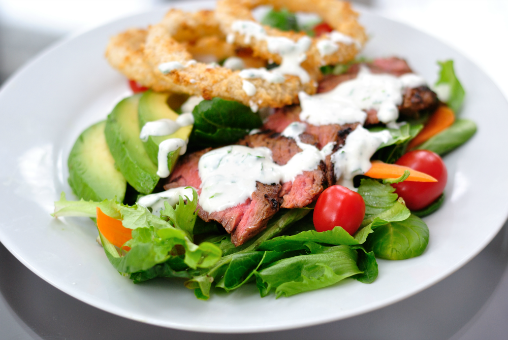 Steakhouse Salad with Horseradish Dressing