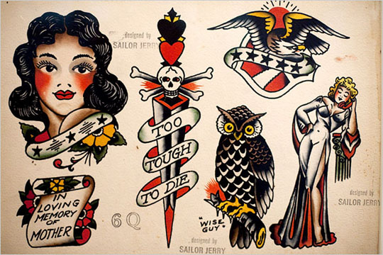 American Traditional Tattoo Outlines