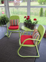 Painting Old Metal Lawn Chairs