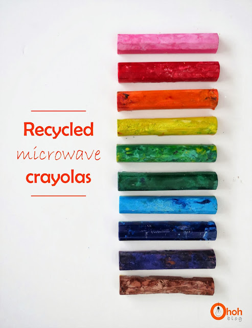 Recycled microwave crayola