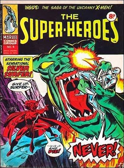 Marvel UK, The Super-Heroes #6, Silver Surfer vs Mephisto