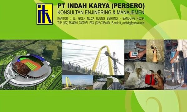 Lowongan Kerja Terbaru PT Indah Karya (Persero) Januari 2016