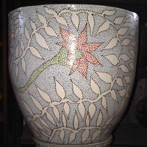 Pot corak bunga 3 - Rp 100.000