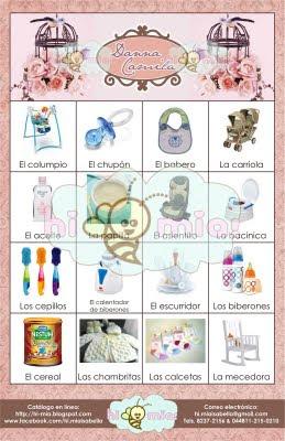 Hi Mia Loteria Personalizada Baby Shower Nina