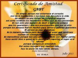 Certificado de amistad
