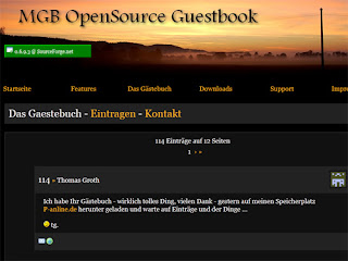 MGB OpenSource Guestbook