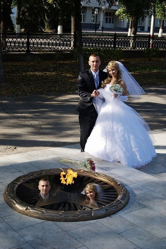 Прикольные свадебные фото (24 фото)