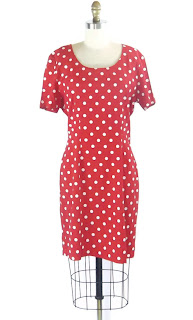 bodycon polka dot dress