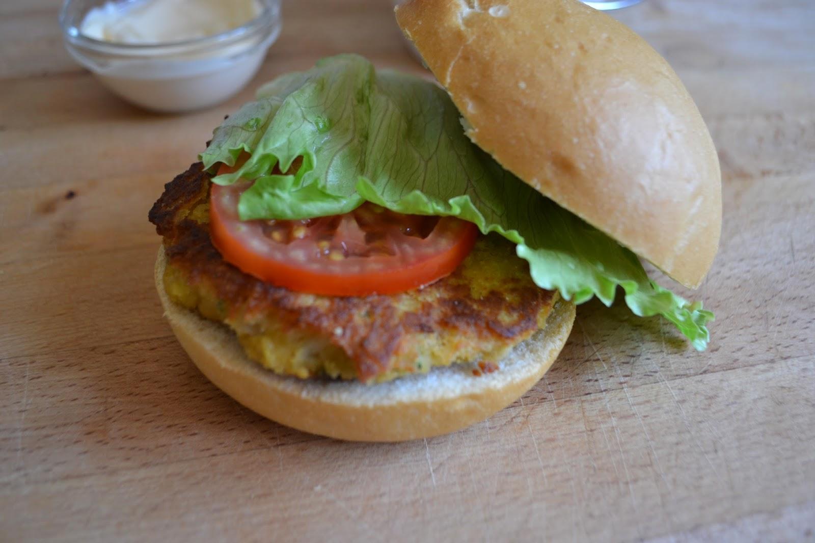 Miss sandia hamburguesas de garbanzos y verduras - Hamburguesa de verduras ...