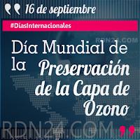 Día Mundial de la Preservación de la Capa de Ozono #DíasInternacionales