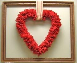 Red Burlap Valentine Wreath Tutorial