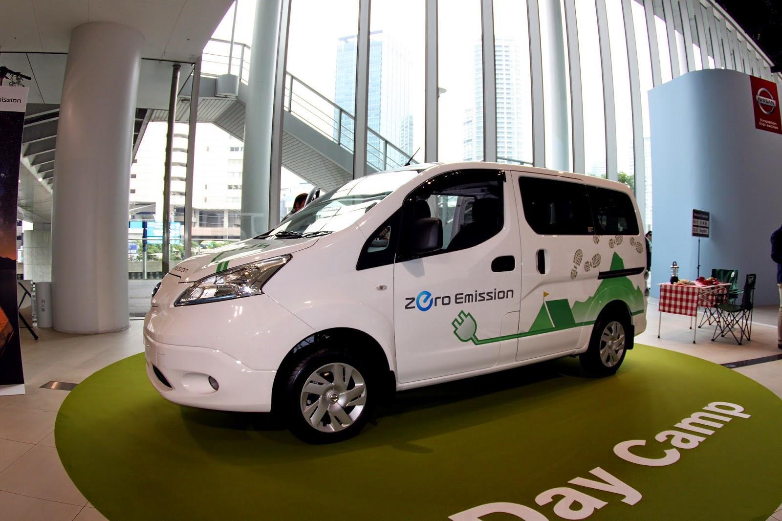Nissan e-NV200 ell-electric commercial van.