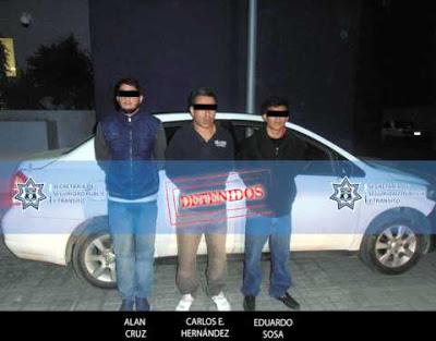 Detenidos en Cholula, presuntos delincuentes