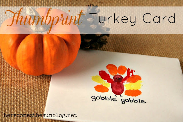 thanksgiving thumbprint card