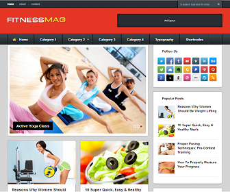 FitnessMag+Blogger+Template