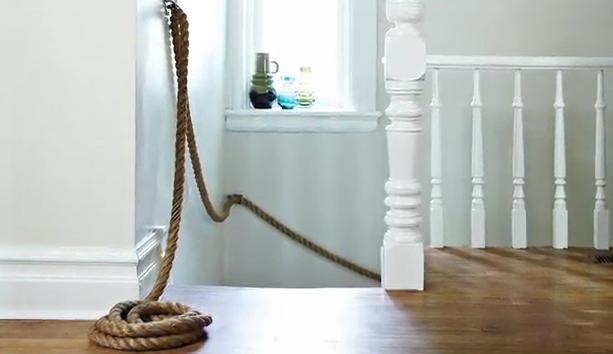 Decorando con cuerda deleite design - Pasamanos de cuerda ...