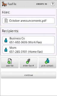 FaxFile Android Fax App