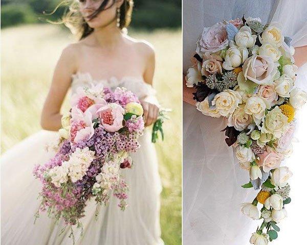 el closet de la novia: ramos de novia según su forma