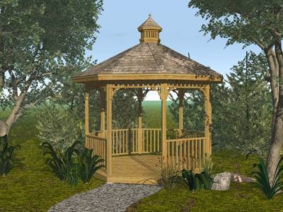 Free plans for building a gazebo floor plans for Simple gazebo plans