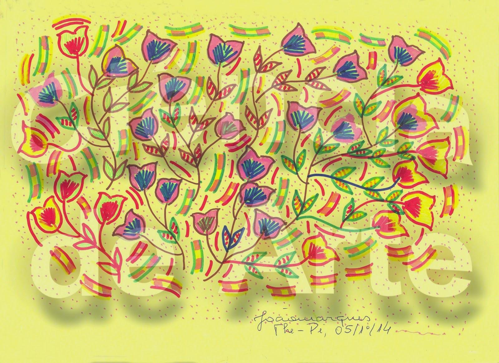 desenhos de ramos de flores 3