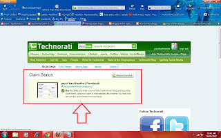 Technorati claim code