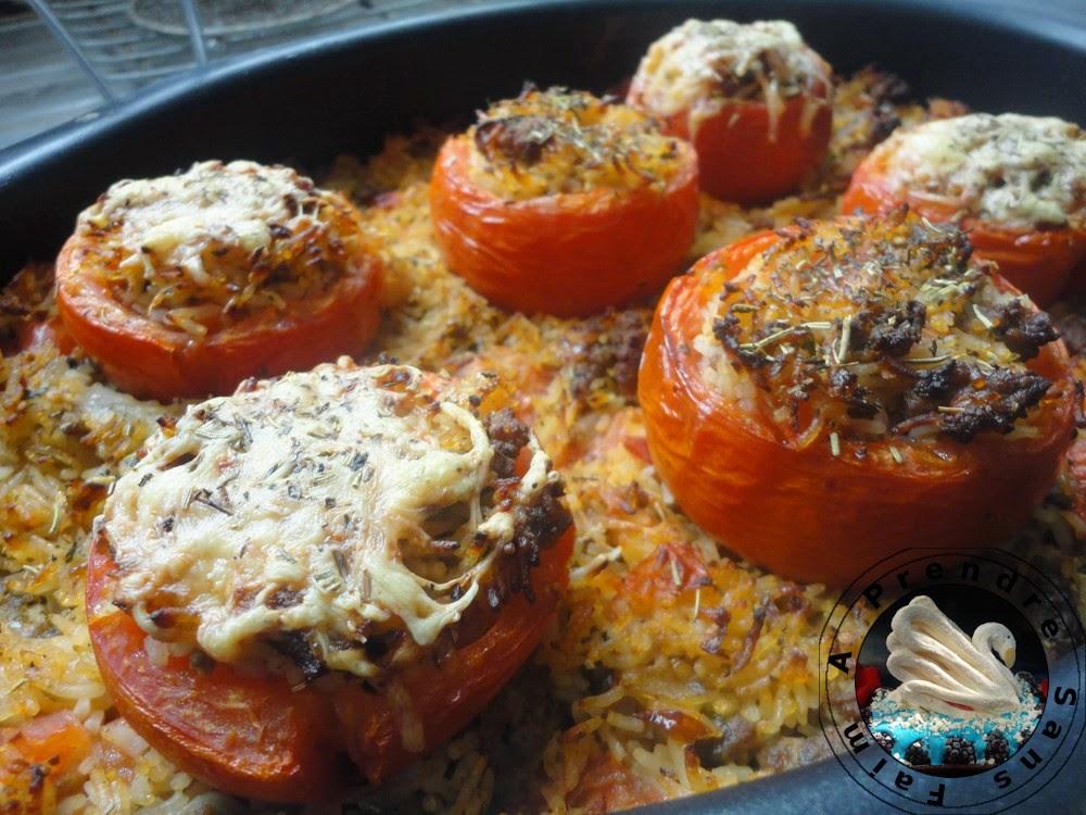 tomates farcies au riz et b u0153uf