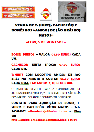 VENDA DE T-SHIRTS - AMIGOS DE SÃO BRÁS DOS MATOS