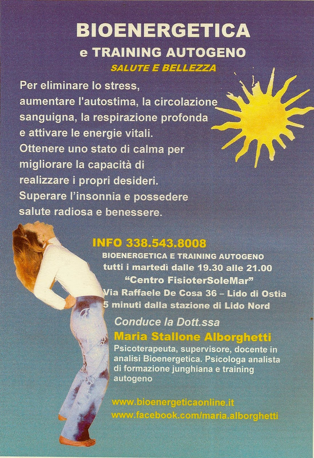 BIOENERGETICA e training autogeno