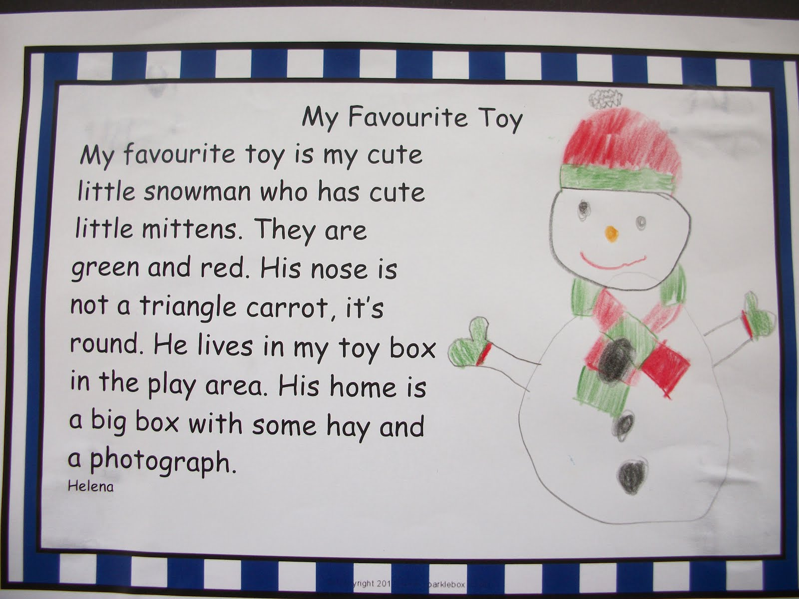 My favourite toy train essay