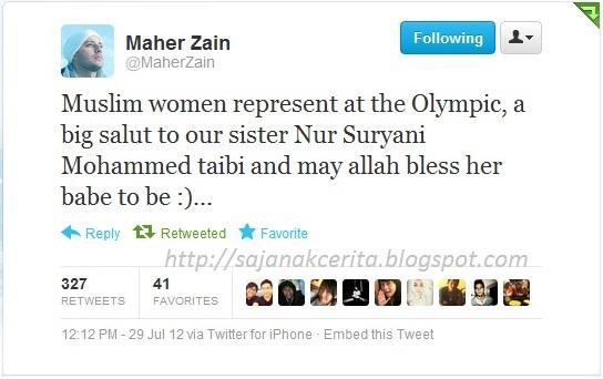 Tweet Dari Maher Zain Tentang Nur Suryani :)