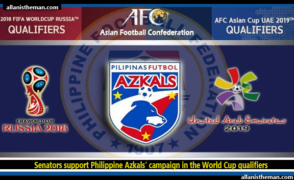 Senators support Philippine Azkals' campaign in the World Cup qualifiers