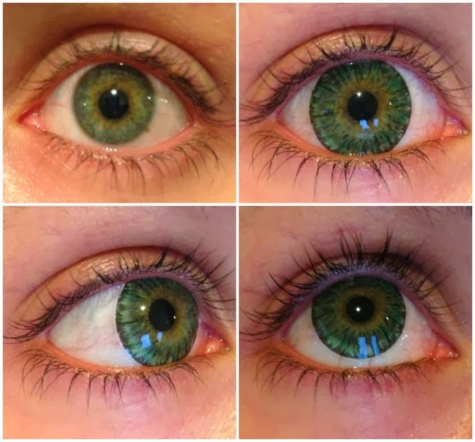 Beuberry Kitten Eyes Green colored contacts